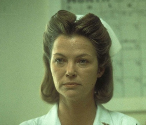 Louise Fletcher as Nurse Ratched in 1975 One Flew Over the Cuckoo's Nest
