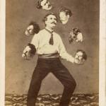 'Man juggling his own head' by de Torbechet, Allain & C., ca. 1880, Saint Thomas D'aquin, albumen silver print. collection of Christophe Goeury