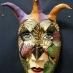 they are not masks at all, but sculptural portraits of people in masks, and very often surreal ones