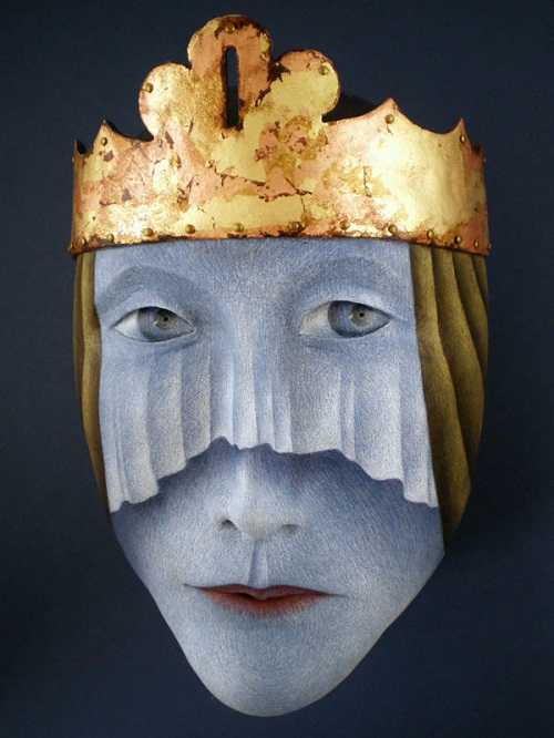A king. Mask by Californian artist Peggy Bjerkan