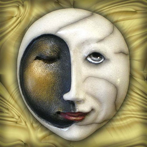 Day-Night Mask made by Californian artist Peggy Bjerkan