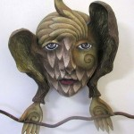Surreal Mask made by Californian artist Peggy Bjerkan