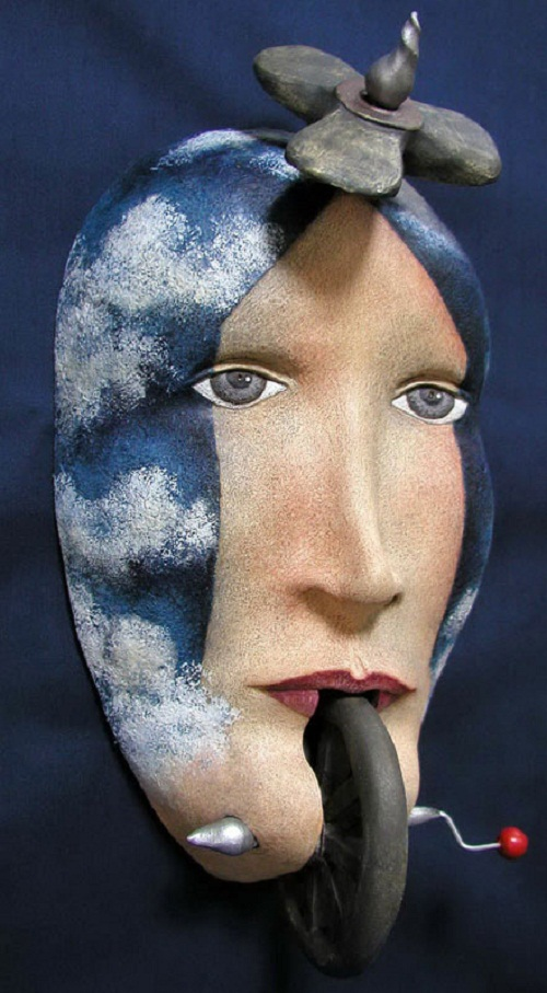 Meanwhile, masks created by Peggy Bjerkan are not wearable