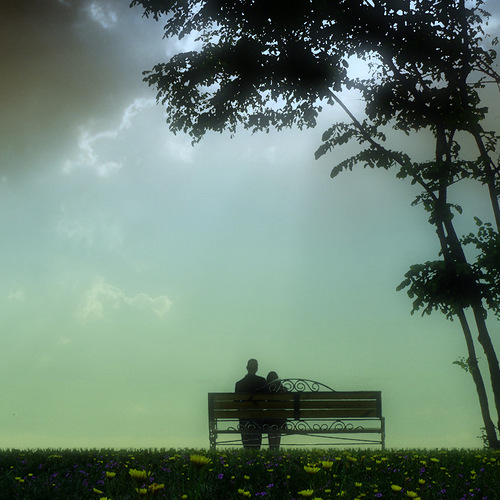 The two on the bench. Photographer Nikolay Titov