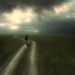 A road. Sunset. Photographer Nikolay Titov