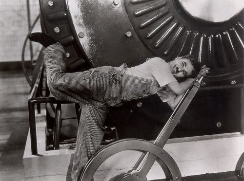 Scene from the film, Charlie Chaplin