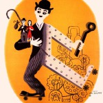 Vintage poster. Modern Times 1936 comedy film
