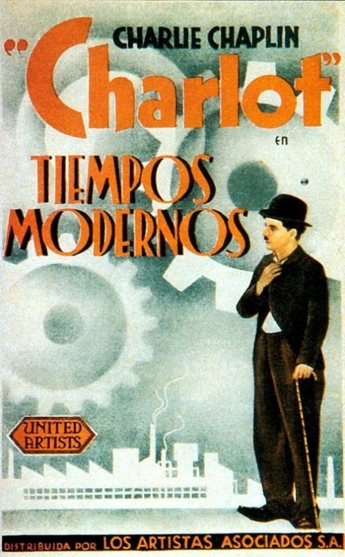 Tiempos Modernos, retro poster for Modern Times 1936