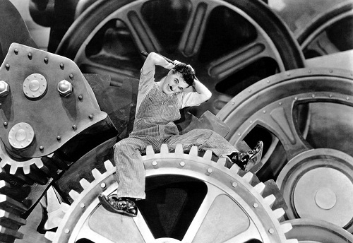 Still from the 1936 comedy film Modern Times