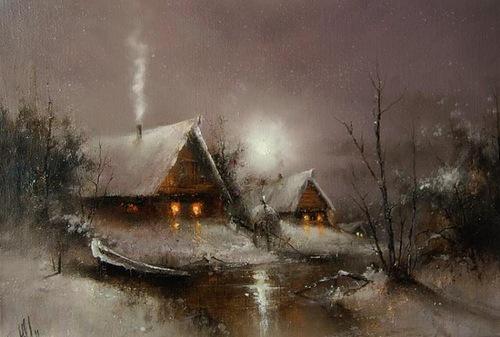 Moonlight sonata in Igor Medvedev's paintings