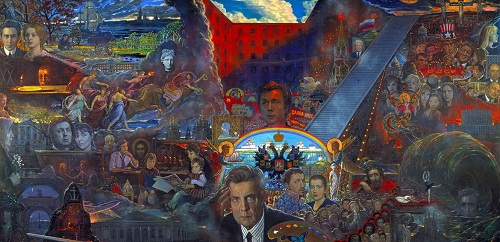 My life (in the center – self portrait of Ilya Glazunov)