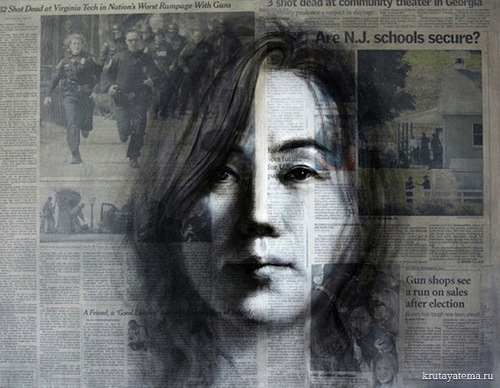 Mystic newspaper drawings by Shin-Young An