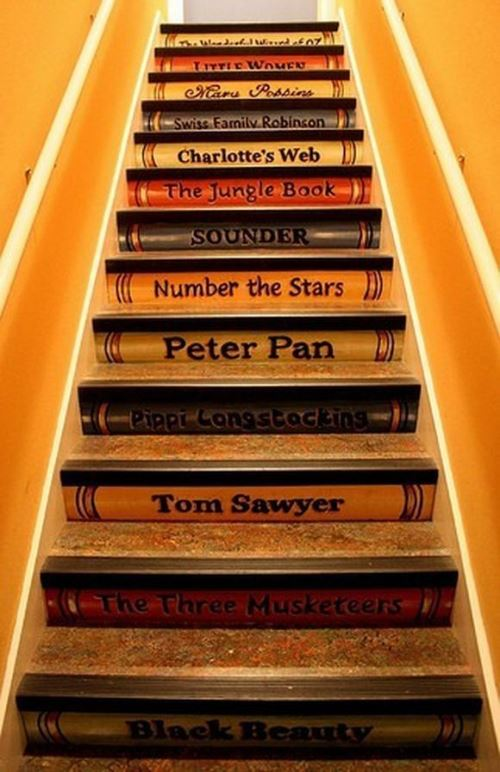 Painted Book stairs
