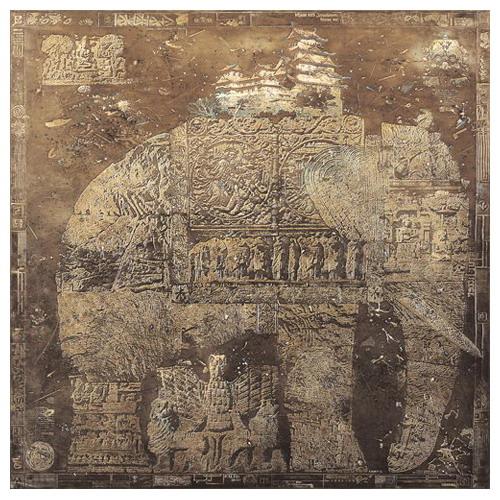 Elephant. Painting by creative Belarusian studio Tsesler&Voichenko