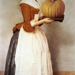 The Chocolate Girl with a pumpkin. Painting by creative Belarusian studio Tsesler&Voichenko