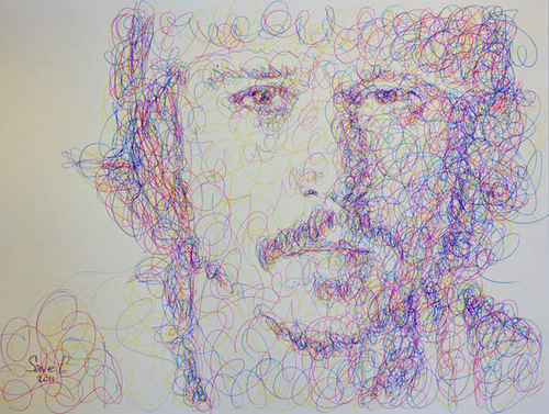 Sergey and Vyacheslav Savelyevs pen drawings