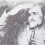 2010 Pen drawing by creative alliance 'Save L' (brothers Savelyevs)
