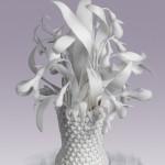 White Porcelain flowers by creative group 'Lyudmila'