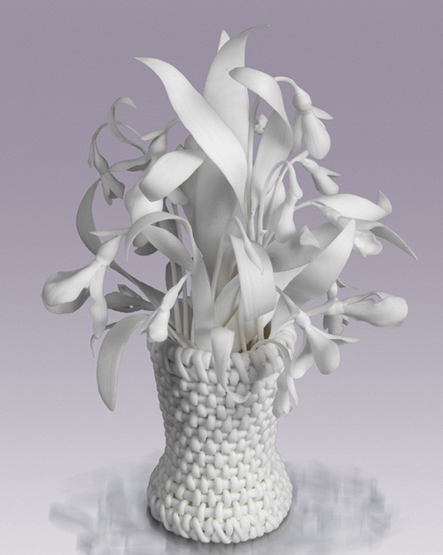 White Porcelain flowers by creative group 'Lyudmila'