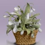 A basket of Porcelain flowers by creative group 'Lyudmila'