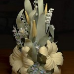 Lily-of-the-valley. Porcelain flowers