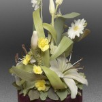 Yellow and white. Porcelain flowers