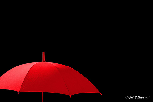 Creative photo project Red umbrella by Canadian photographer Andre Villeneuve