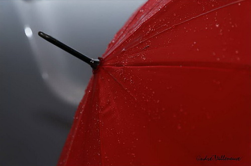 Detail of Red umbrella. Canadian photographer Andre Villeneuve