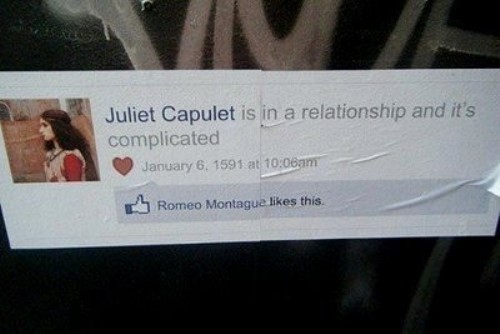 Complicated relationship, Romeo and Juliet