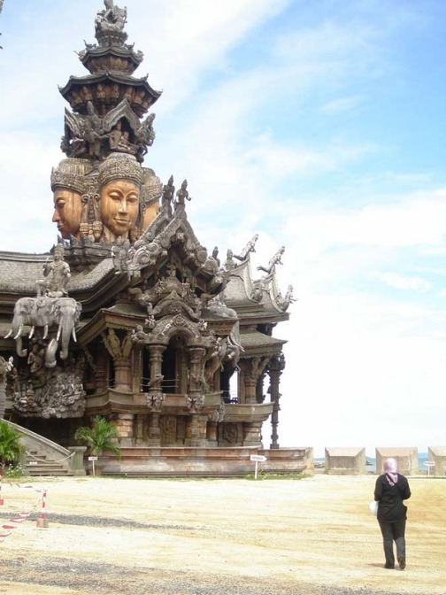 Area of more than 3,000 square meters, Sanctuary of Truth, Naklua Soi 12, Pattaya, Thailand