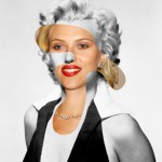 Scarlett Johansson and Marilyn Monroe. From the series of collages Iconatomy by Swedish artist George Chamoun