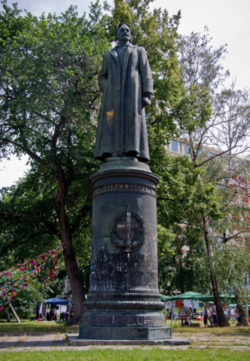 Sculptor Yevgeny Vuchetich. Monument to Felix Dzerzhinsky, 1958, bronze