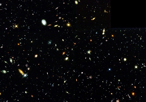 Several hundred galaxies are visible in this 'deepest-ever' view of the universe, called the Hubble Deep Field