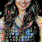 Shama Kabani: The Zen of Social Media. Mosaic portrait of Social Media guru and author of the book The Zen of Social Media marketing Shama Kabani for Exhibitor magazine
