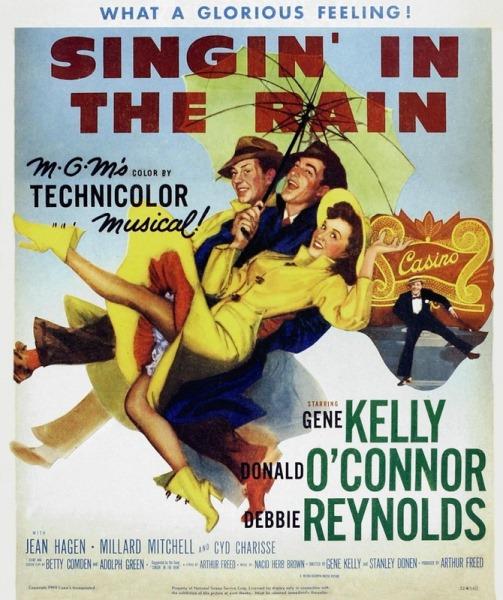 Vintage movie poster. Singin' in the Rain, 1952