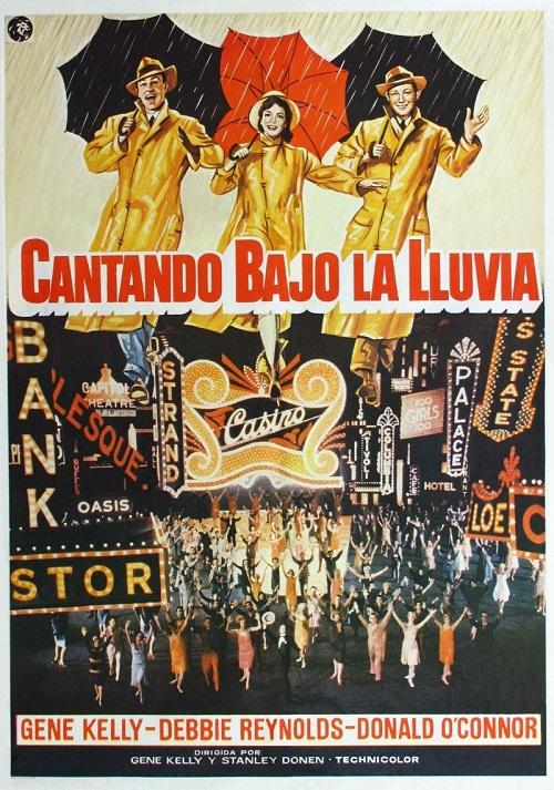 Retro poster. Singin' in the Rain, 1952