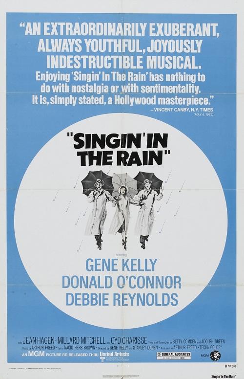 Movie poster. Singin' in the Rain, 1952