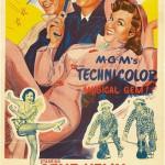1950s movie poster. Singin' in the Rain