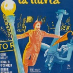 Vintage movie poster Singin' in the Rain, 1952