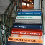 Staircase created by the Greenville Literacy Assn. in Greenville, South Carolina