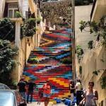 Staircase in Beirut, Lebanon