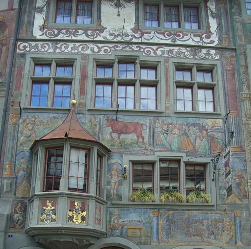 Wonderful art in Stein am Rhein, Switzerland