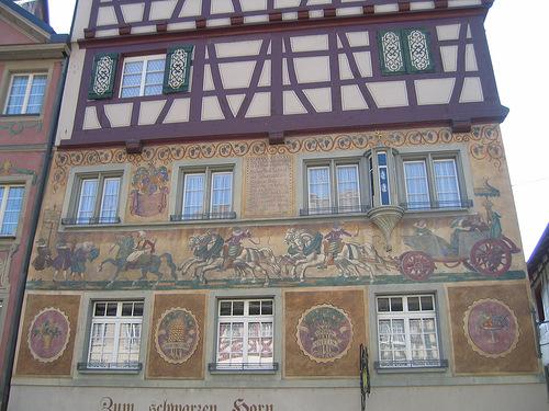 One-of-a-kind street art in Stein am Rhein, Switzerland