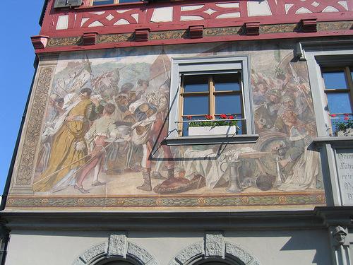 Artfully painted house Stein am Rhein, Switzerland