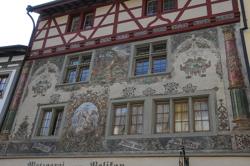 Amazing house art in Stein am Rhein, Switzerland