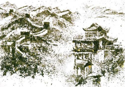 Tea leaves drawings by Andrew Gorkovenko