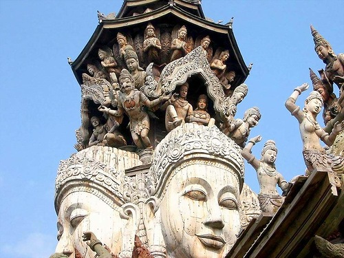 The constructors promised to finish the temple in 2025, but this may not happen. Thailand Temple of Truth