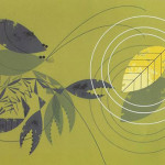 Green leaves. Beautiful Illustration from The Golden Book of Biology by American modernist artist Charley Harper