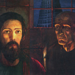 The Grand Inquisitor. The left part of the triptych. 1985