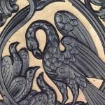Detail of iron panno
